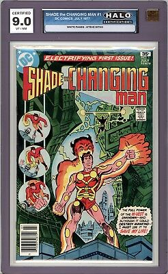 Shade The Changing Man #1 - HALO Graded 9.0 (VF/NM)  Steve Ditko - 1977