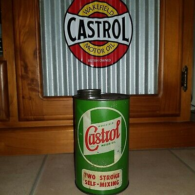 Old Castrol Wakefield Motor Oil Tin Petrol & Oil Collectables