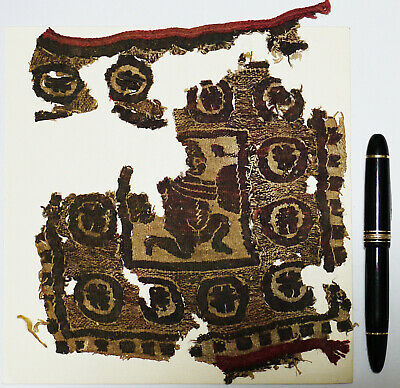 Ancient Coptic Textile Fragment- Person Pattern, Egypt, Christian Arts