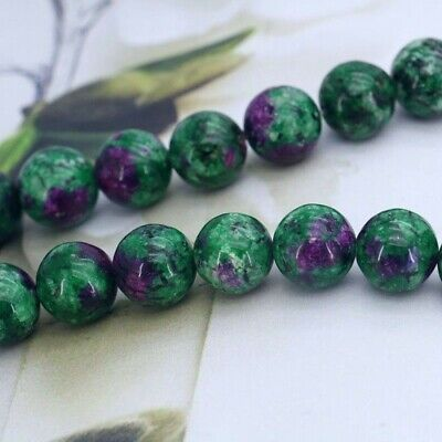 30pcs x 6mm  Natural Epidote gemstone beads