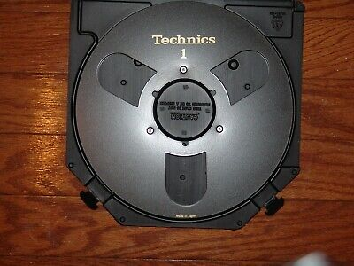 "Mint Black Technics Empty 1/4"" 10.5"" Take Up Metal Reel To Reel 3M Atr Case L@@K"