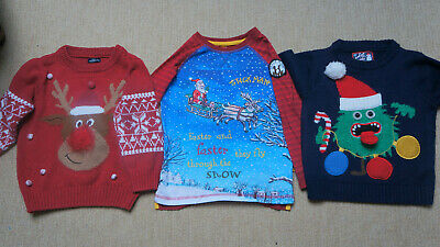 Boys Christmas jumpers bundle size 2-3 years