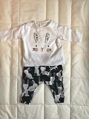 Baby Girls NEXT 0-3 Months Bunny Rabbit Outfit Set