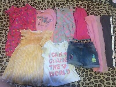 Girls Clothes Bundle Spring/summer/holiday Age 3-4 Next Mothercare Dress Shorts