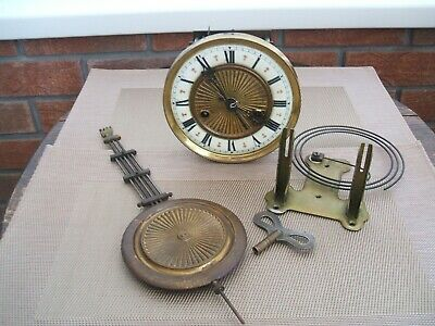 Antique / Drop Dial Wall Clock / Workings Only.