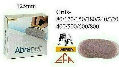 Mirka Abranet 125mm Sanding Discs - Packs 5 or 10 - All Grits from P80 to P1000