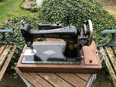 Singer Electric 66k Sewing Machine Circa 1925 This Machine Will Sew Leather.