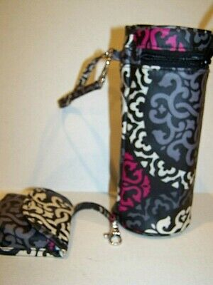 VERA BRADLEY Canterbury 2-Pc Baby Set Bottle Caddy Holder & Pacifier Pod Paci