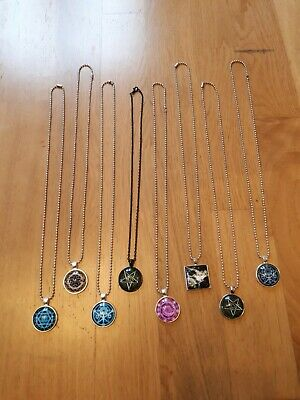 8 necklaces pentagram wicca magic moon lot wholesale gift cabochon glass