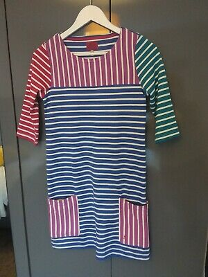 Girls Joules Dress Size striped mixed colours 11-12 years NEW