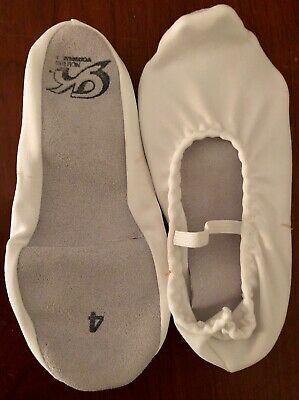 Adult Size 6 NEW GK Elite GK21 White Suede Sole Gymnastics Dance Slippers