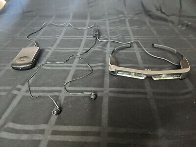 Epson MOVERIO Smart Glass Bt-300 with Earbuds, Barely used