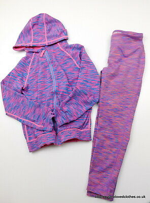 9-10 year Zakti and Kirkland girls outfit sporty suit hoodie jumper and leggings