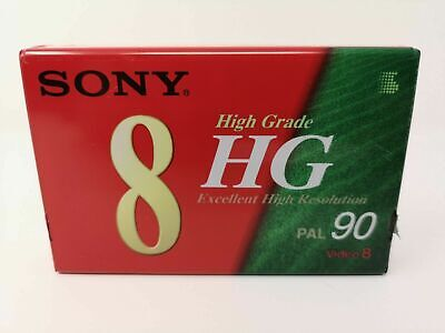 SONY VIDEO 8 - HG90 PAL - NEW/SEALED/BLANK camcorder cassette tape