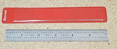 "Starrett No. C604RE-6 - 6"" steel ruler - scale - spring tempered"