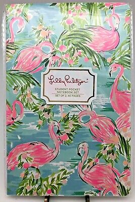 Lilly Pulitzer Student Pocket Notebook Set in Floridita and Viva La Lilly
