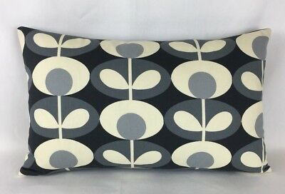 "Handmade Cushion Cover In Orla Kiely Oval Flower 12""x18"" Retro Style Oblong"