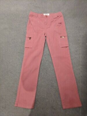Fat Face Girls 12 -13 Years Pink Cargo Trousers size 6