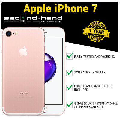 Apple iPhone 7 128Gb Rose Gold - Factory Unlocked - Good -1 Year Warranty