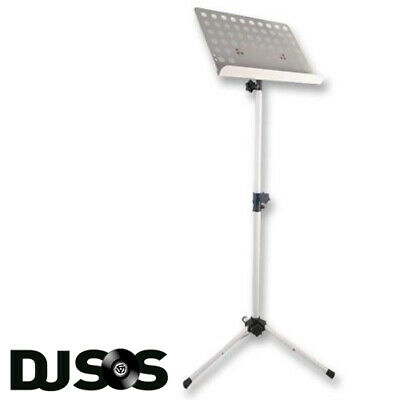 Pulse PLS00044 Heavy Duty Orchestral Conductor Sheet Music Stand Tripod White
