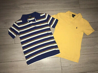 2 X Boys Ralph Lauren Polo T-shirts Aged 8
