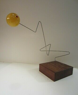 Kinetic Objects Vintage Lucite Wire Wood Tork Kinetic Sculpture Mid-Century 60s
