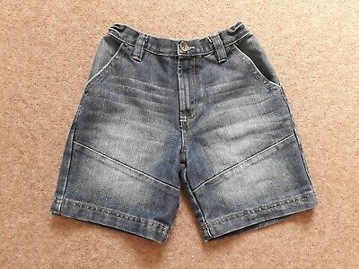 Boys George Blue Denim Shorts Adjustable Waist Age 7-8 years
