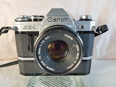 Canon AE-1 35mm Manual SLR Film Camera with 50mm 1:1.8 Lens
