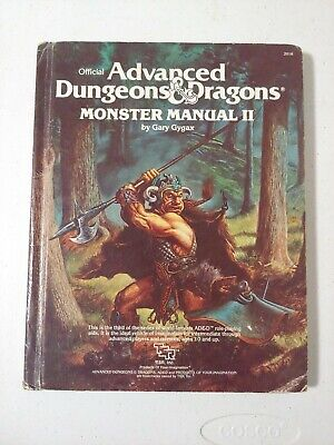 Advanced Dungeons & Dragons Monster Manual II Gary Cygax 1983 ADD AD&D