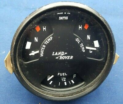 Used Land Rover Series 2a 3 Military SMITHS Fuel Water Oil Temp Gauge IP3244/00