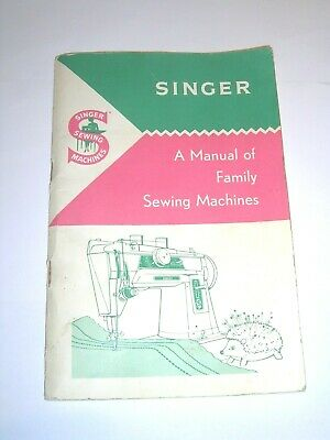 Original Vintage Singer Manual Of Family Sewing Machine Instructions/Attachments