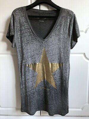 Grey Gold Star Made By Chantal B Tee-Shirt One Size