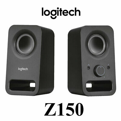 Logitech Z150 Wired Multimedia Dual Computer Desktop Speakers Black