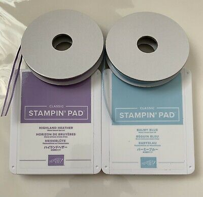 Stampin Up Ink And Ribbon Highland Heather & Balmy Blue