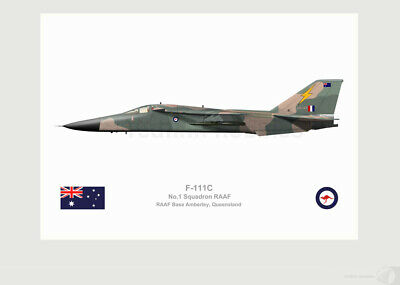 Warhead Illustrated F-111C 1 Sqn RAAF A8-147 Aircraft Print