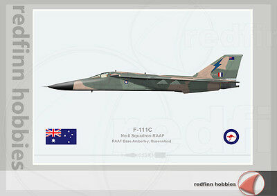 Warhead Illustrated F-111C 6 Sqn RAAF A8-146 Aircraft Print