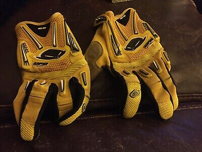 Ufo Motocross Gloves XL Used Yellow Leather