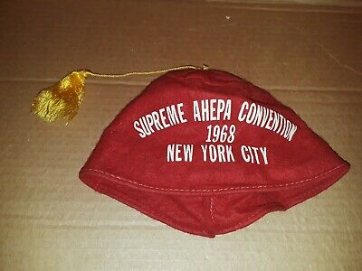 Vintage Supreme AHEPA Convention Hat NYC 1968