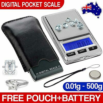 New Digital Pocket Scales Jwellery Elecronic 500g 0.01 Milligram Micro mg
