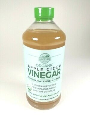 Country Farms  Organic  Apple Cider Vinegar with Ginger  Cayenne   Maple  16 fl