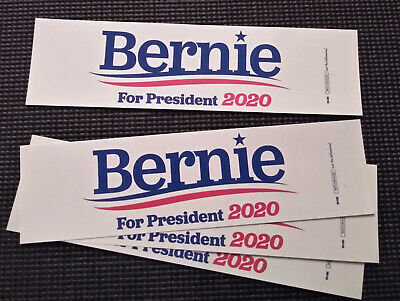 "3 Pack Bernie Sanders for President 2020 Bumper Sticker  - 3"" x 11"""