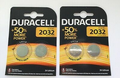 DURACELL DL2032  Coin Cell Lithium 3V Batteries DL/CR2032 pack of 4 Exp:2027