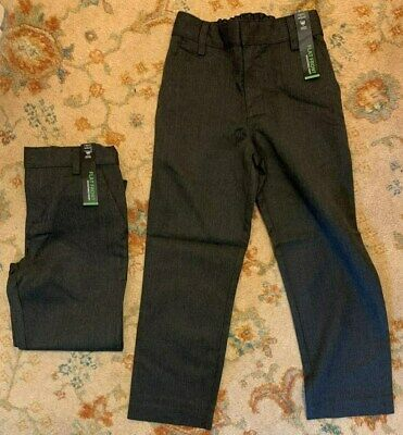 Next Boys Grey School Trousers Flat Front Adjustable Waist Age 6 Years x 1 Pair
