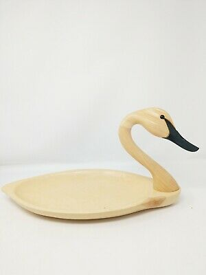 Green River Trading Co. Andy Pouch Large Folk Art SWAN Platter 1991 *Signed* NM
