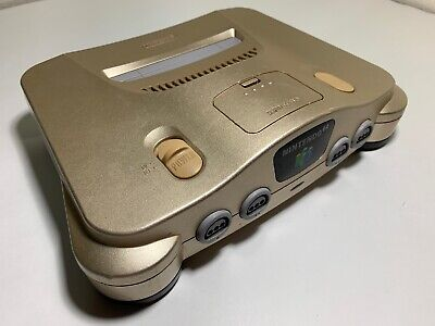 Authentic Gold Nintendo N64 Console Only NUS-001 (USA) Version - RARE Tested