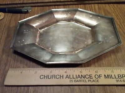 """Beautiful Antique  Period PAIRPOINT Sheffield 8"""" Silver Plate Vanity  Bread Tray"""
