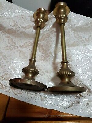A Brass  Brass  Candle Holders
