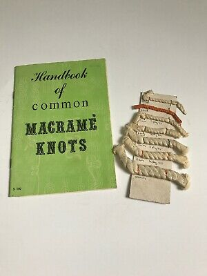 Vintage 1971 Handbook Of Macrame Knots And Cord Size Guide