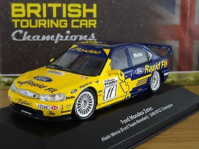Atlas Editions Btcc Ford Mondeo Zetec Alain Menu 2000 Car Model Hr09 1:43