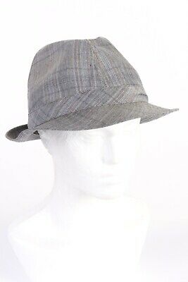 Vintage 1980s Fashion Mens Trilby Hat Wool&Mohair Blended Retro Multi - HAT1157